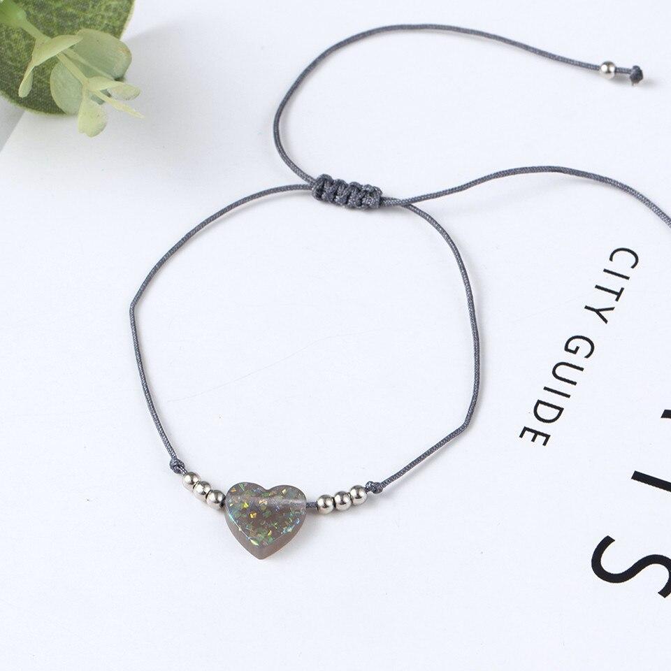 Boho Ankle Bracelet Bohemian Colorful Heart Beads Jesus Cross Turtle Butterfly Infinity Triangle Anklet Women's Leg Bracelet (31)