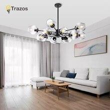 TRAZOS Pendant Lamp Long Tube lamp Kitchen Island Dining Room Shop Bar Decoration Smoky grey glass Light
