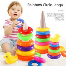 Montessori Toy Wooden Building Blocks Early Learning Educational Toys Color Match Kids Puzzle Toys For Children Boys Girls