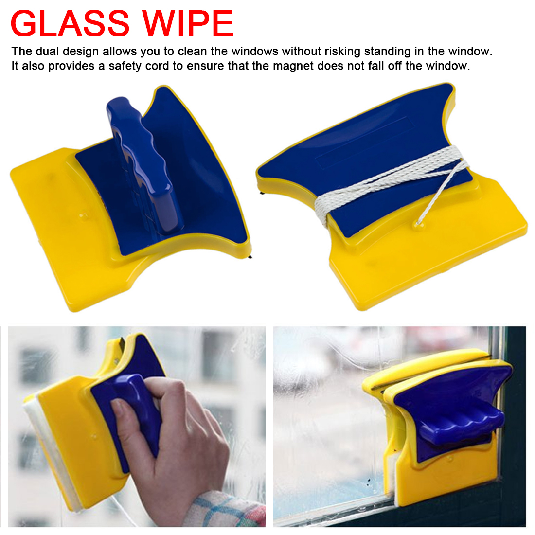Household Cleaning Tools Magnetic Window Cleaner Brush For Washing Windows Magnetic Brush For Washing Of Glasses