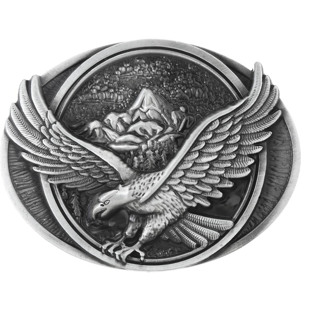 Retro Flying Eagle Belt Buckle Men's Western Jeans With Accessories Suitable For 4CM Wide Belt
