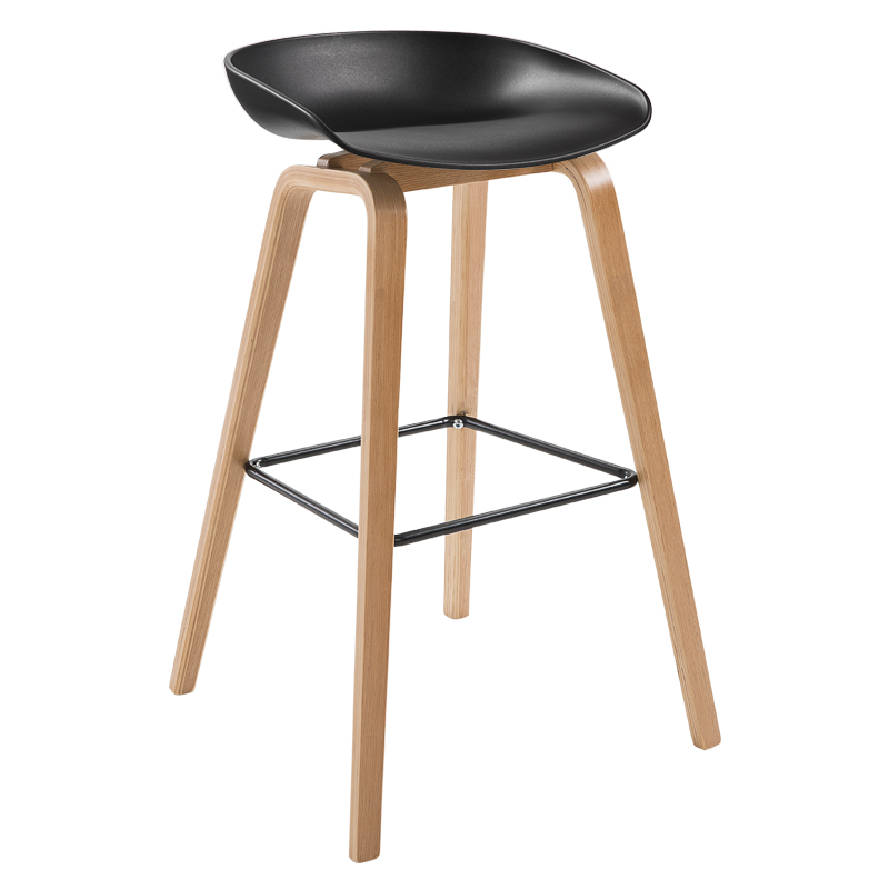 H1 Solid Wooden Bar Chair Modern Simple Bar Chair European Bar Chair Front Desk Chair Bar Chair High Chair Nordic High Chair