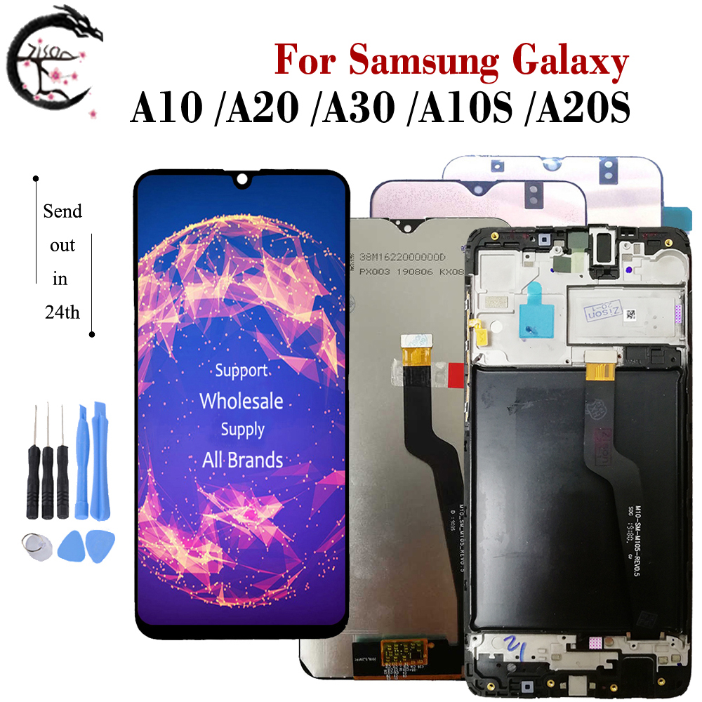 <font><b>LCD</b></font> For <font><b>SAMSUNG</b></font> Galaxy A10 2019 Display A105F A20 A205F A205FN <font><b>A30</b></font> A305F <font><b>LCD</b></font> A10S A107 A20S A207 <font><b>Screen</b></font> Touch Digitizer Assembly image