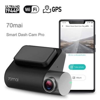 Sony Dash Cam | 70mai Pro Dash Cam 1944P GPS ADAS Auto Voiture DVR 70 Mai Car Dashcam Commande Vocale 24 HParking Moniteur 140FOV Vision Nocturne Caméra WIFI Dash Camera Voiture