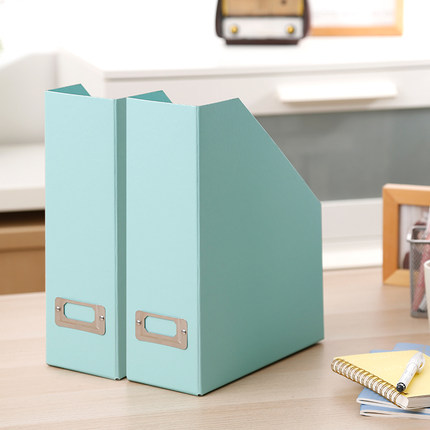 2PCS Creative Papery File Box Desk Organizer Office Paper Organizer Tray A4 Box DIY Magazine Holder Desk Paper Stand
