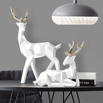 Geometric Deer Sculpture for Home Decoration Bathroom Bedroom Departments Dining Room Entryway Home Accessories Living Room Rooms