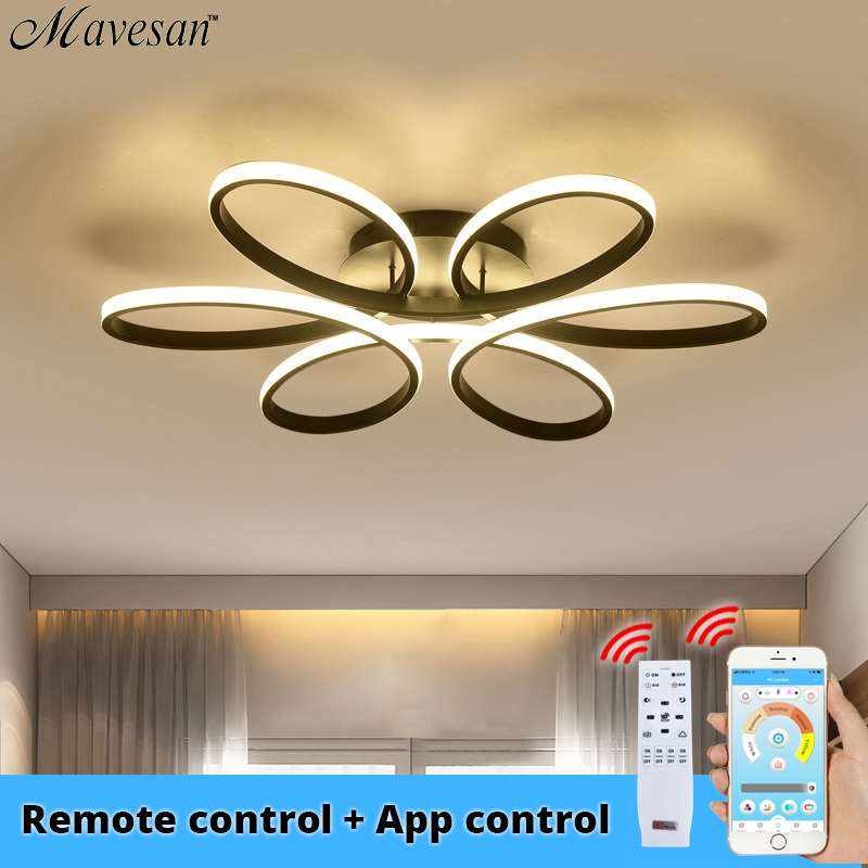 Modern led chandelier lighting for living room bedroom indoor home App control lustre chandelier lamp AC90v-260v lampadario image