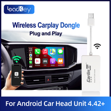 Loadkey & carlinkit carplay sem fio para apple carplay e android dongle usb automático para modificar tela android apoio mirrorlink
