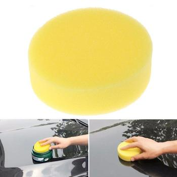 1/5pcs Wax Sponges Car Wash Polish Sponge Car Wax Foam Glass Sponges Yellow For Clean care Applicato