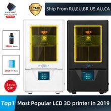 ANYCUBIC Photon S 3D yazıcı 2 renk siyah/beyaz 500ML LCD yükseltilmiş modülü matris çift Z eksen SLA foton yazıcı 3d Drucker