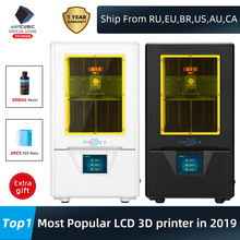 ANYCUBIC פוטון S 3D מדפסת 2 צבעים שחור/לבן 500ML LCD משודרג מודול מטריקס כפולה Z ציר SLA פוטונים מדפסת 3d דרוקר