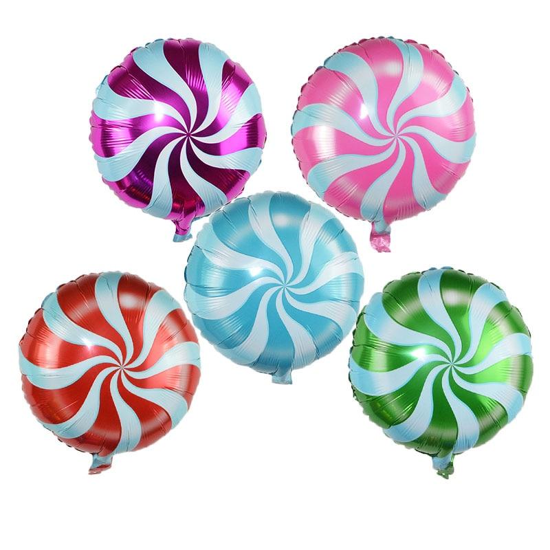 4-3 шт 18 дюймов леденец фольги воздушный шар конфеты мельница точка Алюминиевые шарики для свадьбы детский душ товары для дня рождения Детски... смотреть на Алиэкспресс Иркутск в рублях