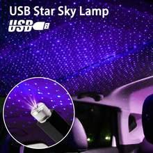 Galaxy Lamp Usb Led Auto Sfeer Ambient Ster Licht Dj Rgb Kleurrijke Muziek Geluid Lamp Kerst Interieur Decoratieve Licht