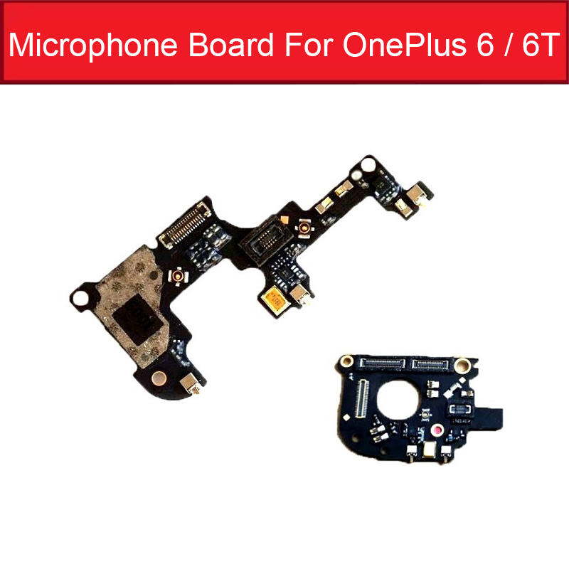 Microphone Flex Cable For Oneplus 1+6 6T A6000 A6003 A6010 A6013 Mic Microphone Connector Flex Ribbon Replacement Parts