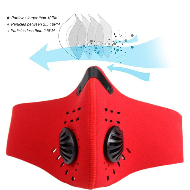 1 Pcs PM2.5 Anti-Dust Mask Anti-pollution Face Mask Activated Carbon Filter Washable mask Flu-proof Mouth Mask 3