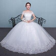 Embroidery Wedding Dress Lace Up 2020 New Bride Plus Size Wedding Dresses Ball Gowns Bridal Flower Dresses Vestido De Noiva