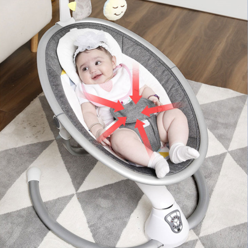 Free Shipping Electric Baby Rocking Chair 0-3 Baby Safety Cradle Rocking Chair Soothing Baby's Artifact Sleeps Newborn Sleeping