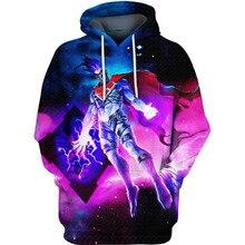 PLstar Cosmos dc comics Nightmare Superman 3d hoodies/shirt/Sweatshirt Winter long sleeve Pullover Fashion Harajuku streetwear
