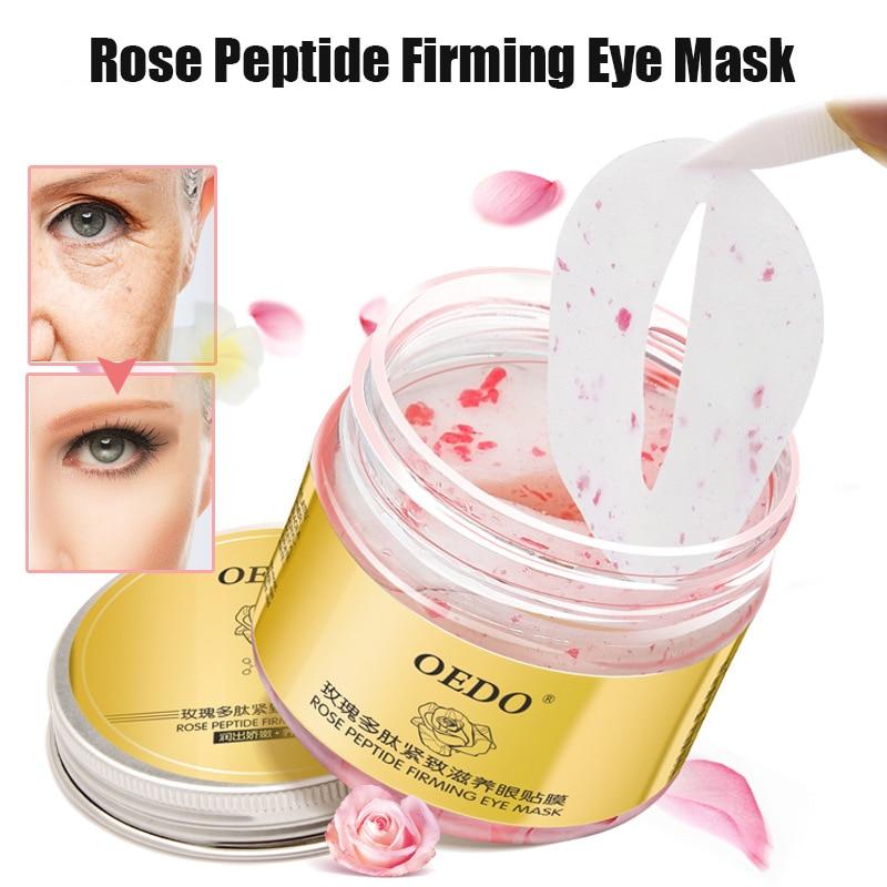 60Pcs/Box Moisturizing Firming Eye Mask Eyelid Pad Rose Peptide Patches SK88