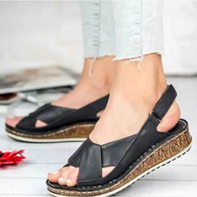 ผู้หญิงฤดูร้อนเปิดนิ้วเท้ารองเท้าแตะสุภาพสตรีหนังCrossผูกเย็บแบนหญิงรองเท้าสบายๆรองเท้าผู้หญิง