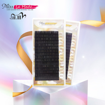 Miss Lamode super soft  all size 1pc/lot BCD Curl  mink  eyelashes extension individuals eyelashes extensions  wimper miss lamode 5 cases lot all size high quality mink eyelash extension individual eyelashes natural eyelashes fake false eyelashes