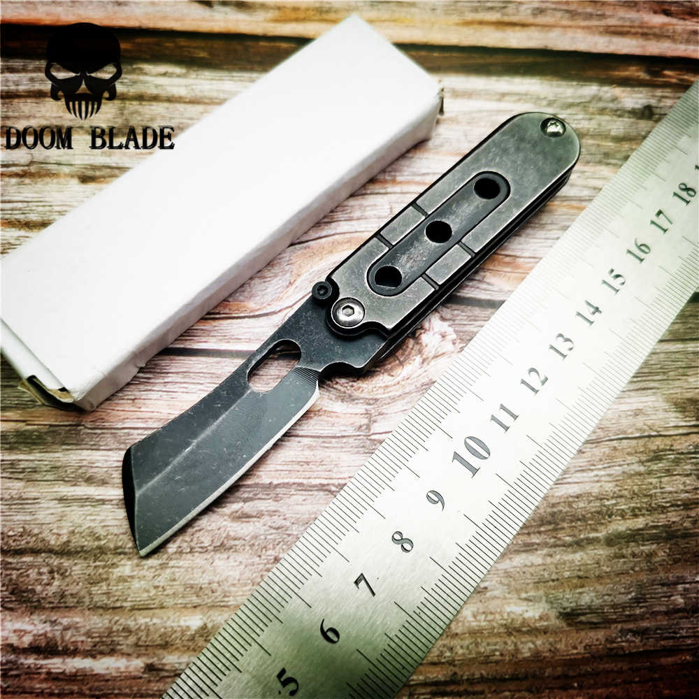 118mm 5CR15MOV  Knives Folding Knife Mini Pocket Wallet Keychain Survival Knives  EDC Tool