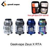 Vape tanque geekvape zeus x rta com 810 delrin gotejamento ponta cigarro eletrônico atomizador vs zeus dupla ammit dupla apto nova mod