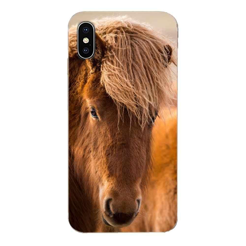 Horse Face Soft Case Accessories For Apple iPhone 4 4S 5 5C 5S SE SE2 6 6S 7 8 11 Plus Pro X XS Max XR