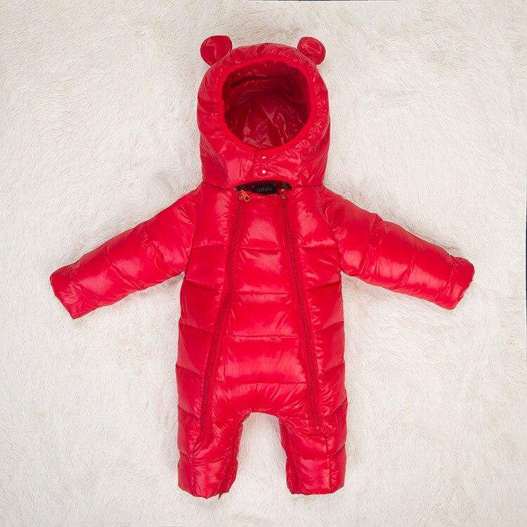 Winter Baby One-piece Down Jacket Baby Warm Jumpsuit Baby Girl Windproof Winter Coat  Newborn Down Sleeping Bag Infant Clothing
