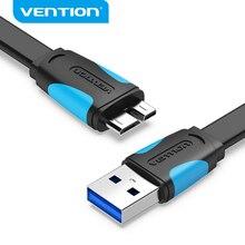 Vention Cable Micro USB 3,0 tipo A micro b para transferencia de datos, Cable de carga rápida para disco duro, Samsung
