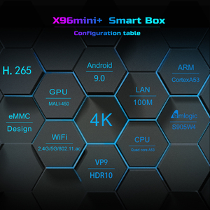 Image 3 - 2021 X96 Mini Plus TV Box Android 9.0 Amlogic S905W4 Quad Core A53 Dual Wifi H.265 4K 30fps supporto Google Voice Youtube X96Mini