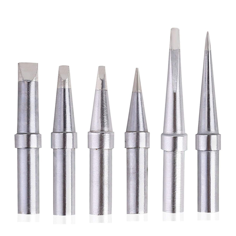 Solder Tips 6Pcs ET Soldering Iron Replacement Tips For WES51/50,WESD51,PES51 / 50,WE1010NA WCC100 LR21 ET Tip Series (6PCS-01)