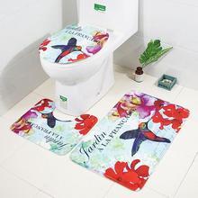 3 шт./компл. Нескользящие Коврик для душа крышка для унитаза коврик ковер дома Ванная комната для ванной коврик ковер домашний декор Ванная комната продукты