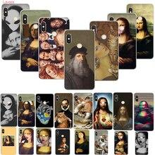 Lavaza Funny Leonardo da Vinci Mona Lisa Pat Cat Art Aesthetics Hard Case for Huawei Honor P smart Z Plus P20Lite Y9 5i 20 9x