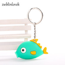 New Candy Cartoon Fish Anime Bag Car Key Chain PVC Figure Keyring For Women Cute Toys Keychain Keyholder Birthday Gift Accessory(China)