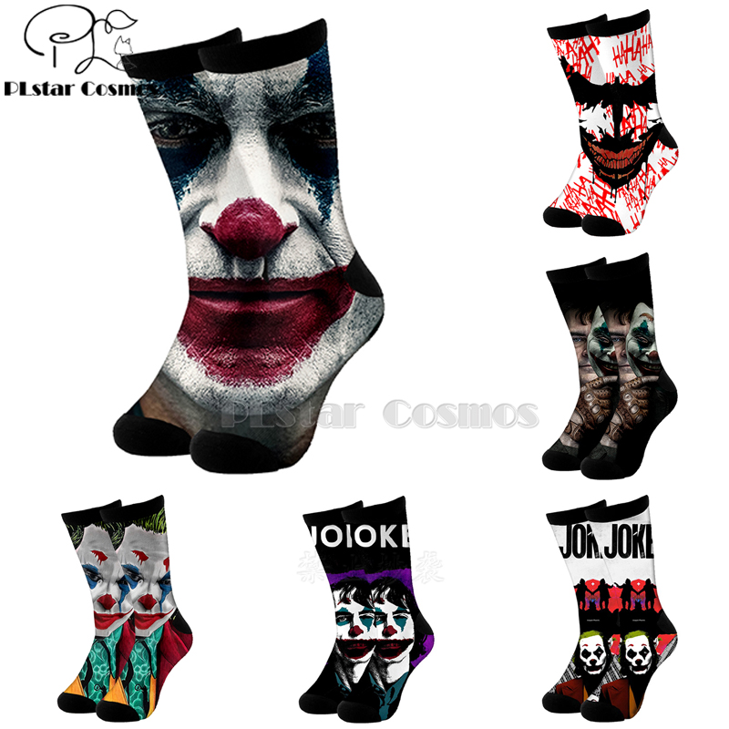 Plstar Cosmos Comic Dc Haha Joker Evil Villain Cotton Socks Cartoon 3d Print Socks High Sock Men Women Quality Joaquin Phoenix-2
