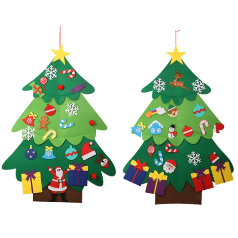 DIY Felt Christmas Tree Set with Ornaments for Kids Xmas Gifts New Year Decor US