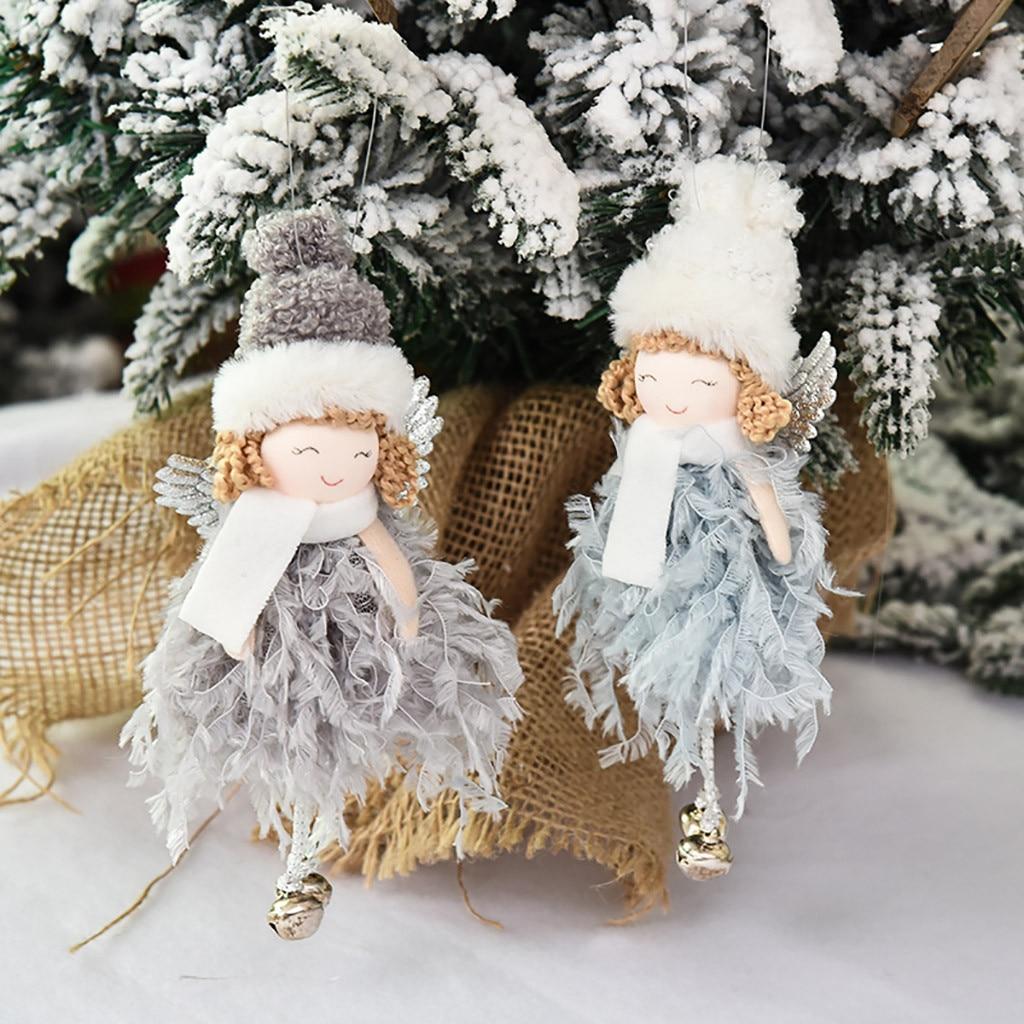 Подвеска в виде Рождественского Ангела, милая плюшевая кукла, Рождественское украшение для дома, украшение для вечерние, Рождественское ук...