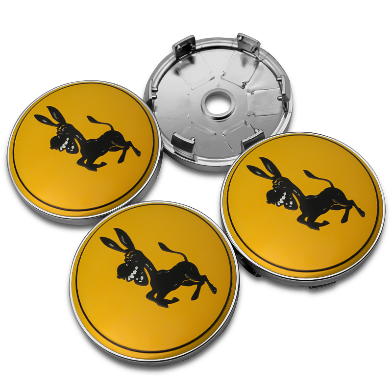 4PCS 56MM 60MM Donkey Car Wheel Center Hub Caps Badge Emblem Sticker Decal Wheel Dust-proof Covers For Ferrari Ford Mustang