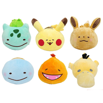 25cm cute pillow Charmander Squirtle Bulbasaur Clefairy Ditto eevee Flareon Jolteon Gengar Vaporeon kawaii plush doll WJ158 1pcs 12 15cm anime cartoon charmander squirtle bulbasaur clefairy ditto metamon plush toys soft stuffed dolls 5 styles