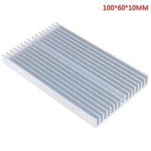 100x60x10mm diy cooler grade de alumínio forma dissipador calor chip para ic led power transistor módulo radiador refrigeração especial