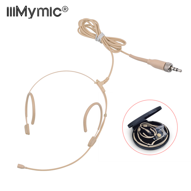 Upgrade Version Electret Condenser Headworn Headset Microphone 3.5mm Jack TRS Locking Mic For Sennheiser Body Pack Thick Cable