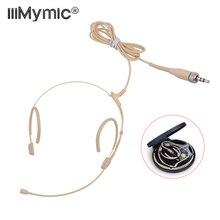 Yükseltme sürümü elektret kondenser Headworn kulaklık mikrofon 3.5mm Jack TRS kilitleme mikrofon Sennheiser vücut paketi kalın kablo