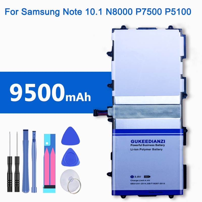 SP3676B1A(1S2P) 9500mAh Tablets Battery For <font><b>Samsung</b></font> GALAXY Note 10.1 Tab 2 <font><b>GT</b></font> N8000 N8010 N8020 P7500 <font><b>P7510</b></font> P5100 P5110 P5120 image