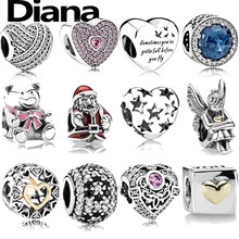 Diana fit original Pandora charm bracelet DIY beads personality simple high quality lady 925 sterling silver fashion jewelry