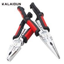 KALAIDUN Multitool צבת מסוף לחיצה כלי חוט חשפנית כבל קאטר מלחץ מלחץ Plier אף ארוך צבת חשמלאי