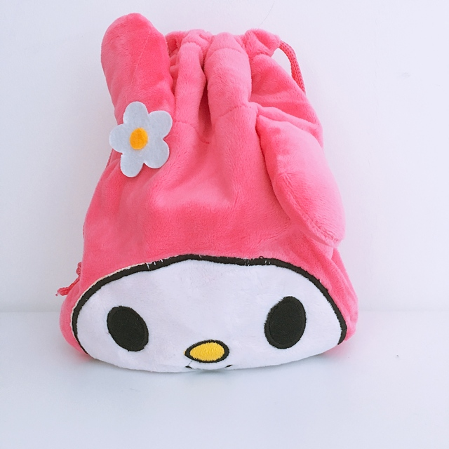 IVYYE Big Promotion Melody Cartoon Drawstring Bags Cute Plush storage handbags makeup bag Coin Bundle Pocket Purses NEW
