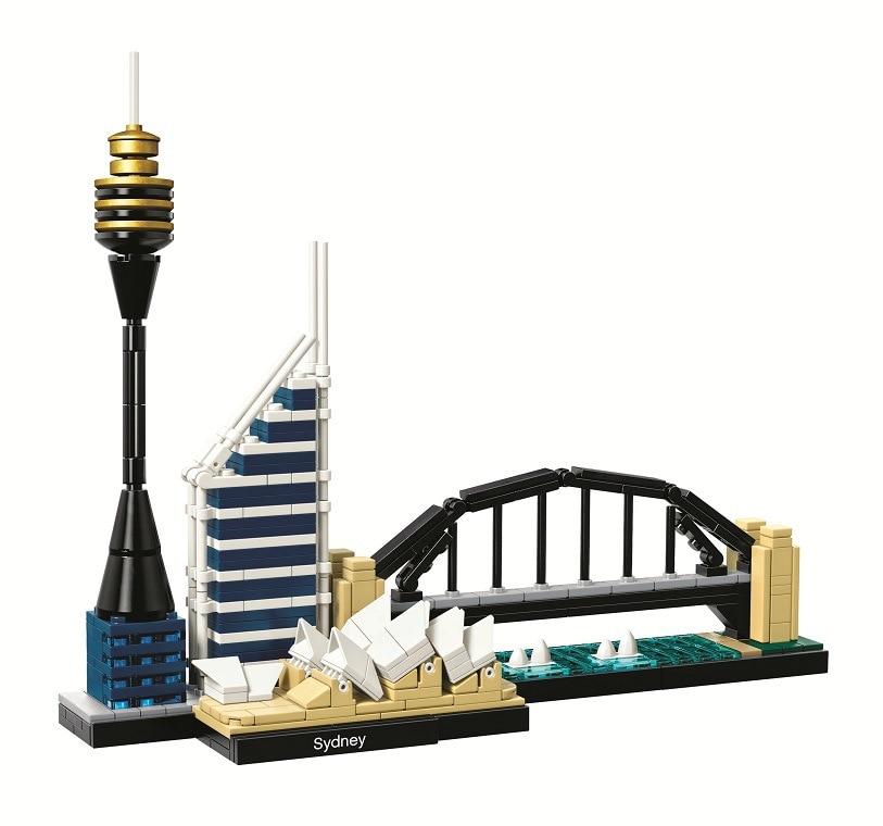 2018 New BELA 10676 Architecture Sydney Skyline Building Blocks Sets Compatible Lepining City Bricks Classic Model Kids Toys