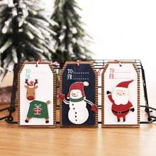 Christmas Pattern Hanging Ornament Wooden Pendant Christmas Tree Decoration Doorstep Decoration Fireplace Window Pendant