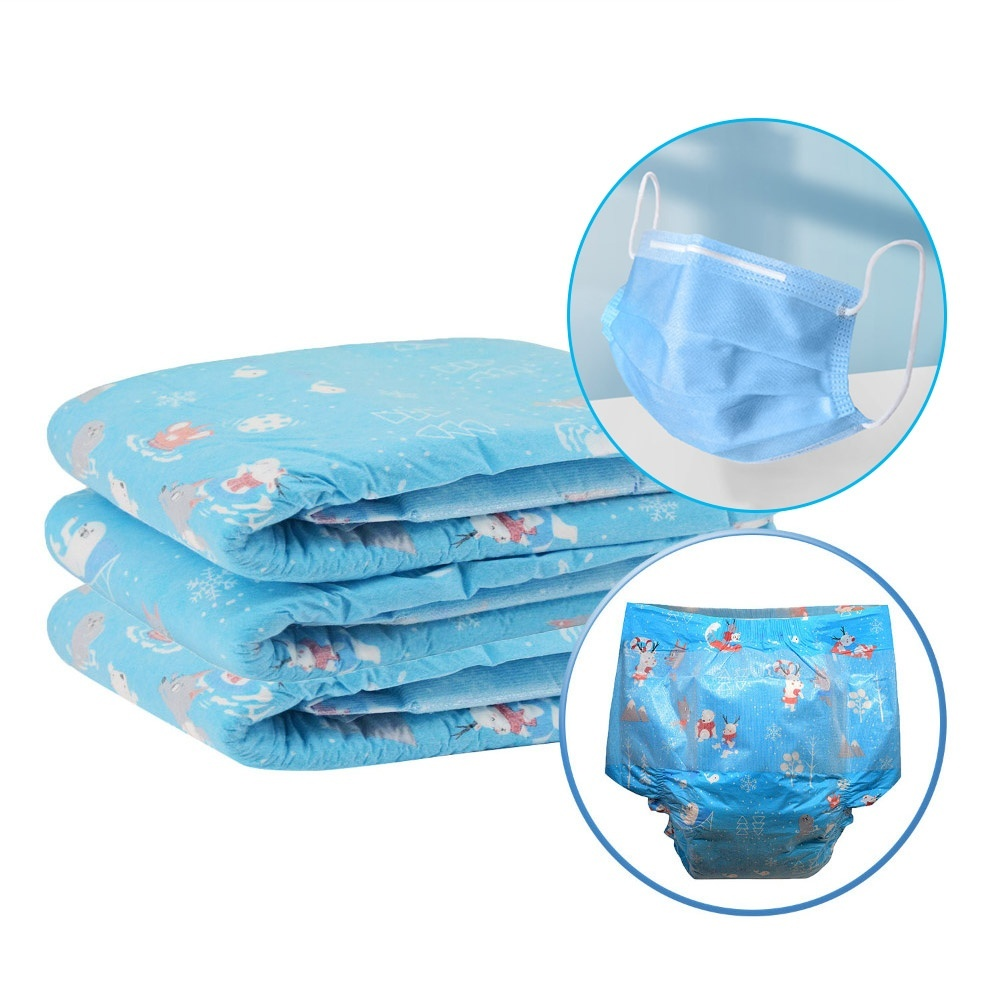 ABDL Adult Baby Diaper Elastic Waistline High Absorption Soft Disposable Big Volume 6000ML Diaper 3 Pcs In A Pack